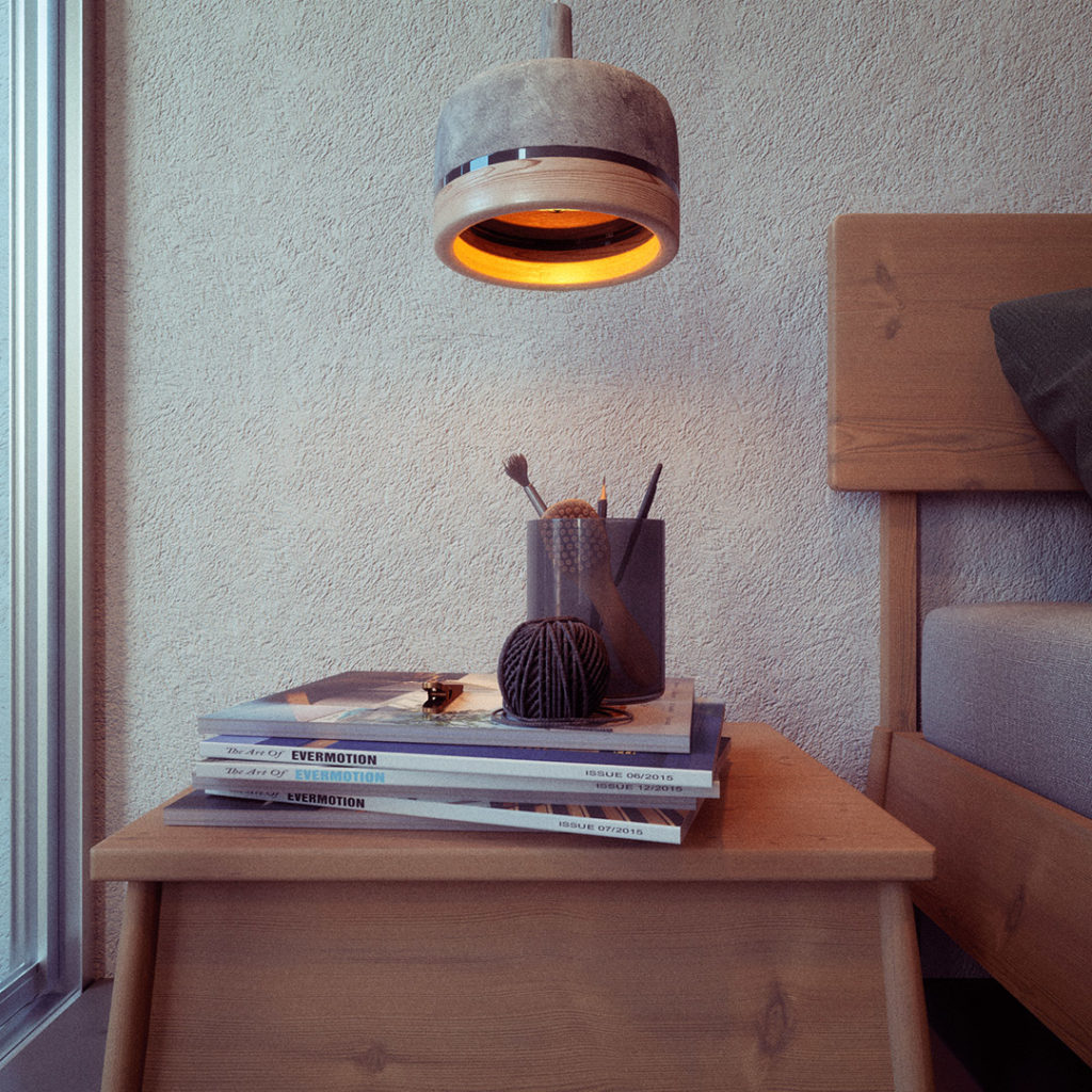 Juan Monsivais, Lamp Details. Corona Renderer.