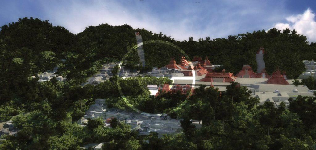 Juan Monsivais Palenque virtual reconstruction, V-Ray