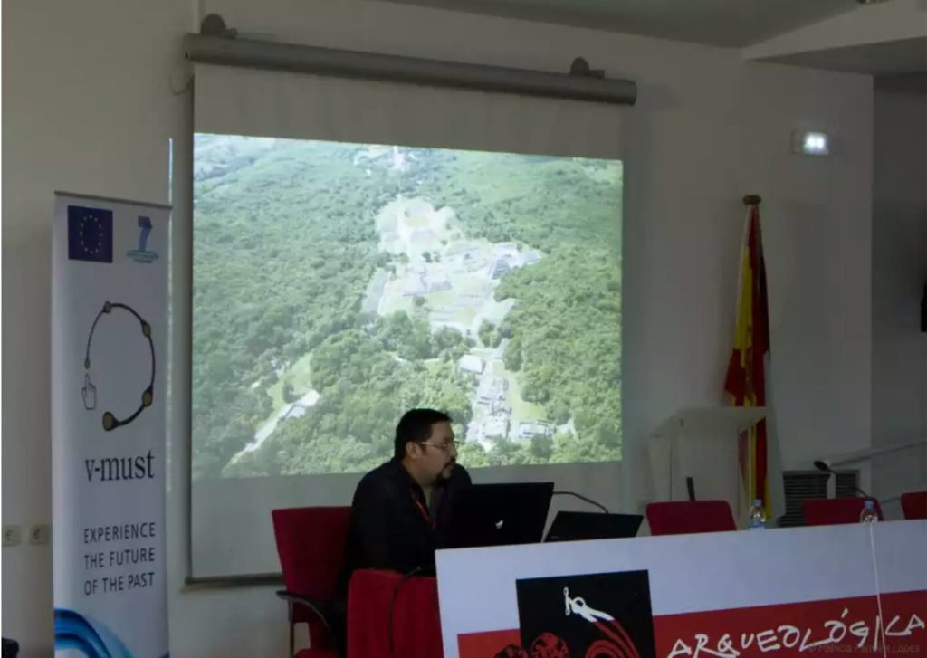 Lecture, virtual reconstruction of archeology in Mexico. CD. Real, Spain, 2014
