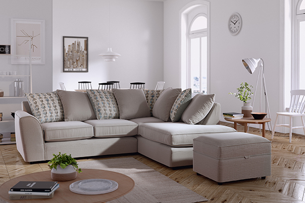 Pikcells, Initial Corona Renderer test results from 2015 using 3D scanned sofa model.