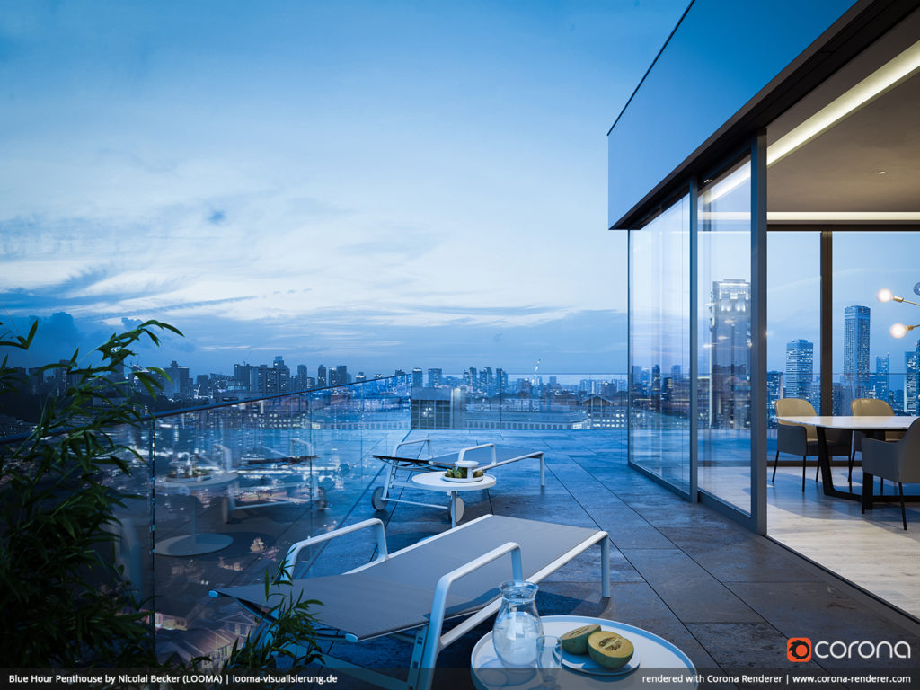 Blue Hour Penthouse 02 by Nicolai Becker