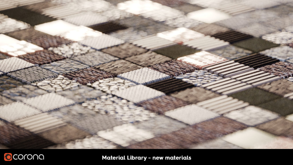 Corona Renderer 2, Material Library new materials