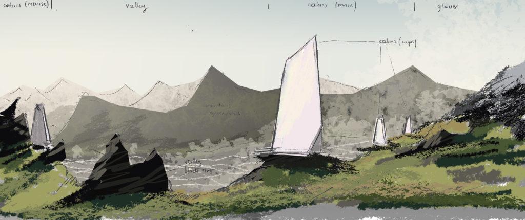 """Bartosz Domiczek """"Northern Wisps"""" sketch"""