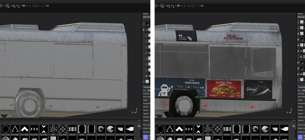Davide Calabrò, using Substance Painter to texture the bus