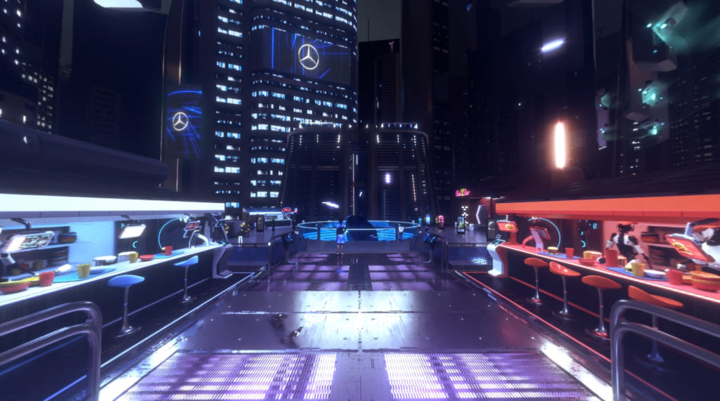 Stratostorm, Futuristic City environment created for a VR project for Mercedes