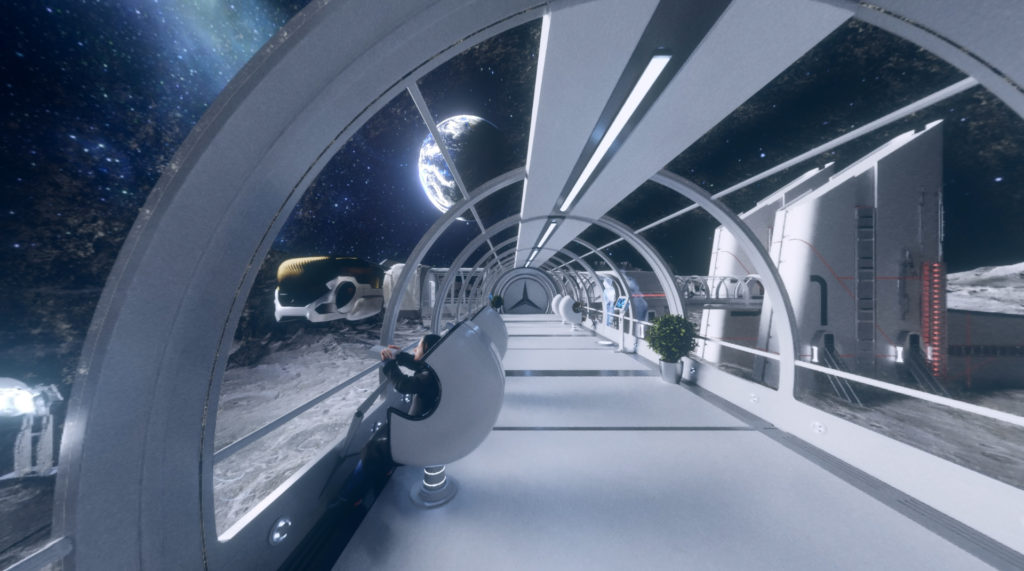 Stratostorm, Lunar City environment created for a VR project for Mercedes