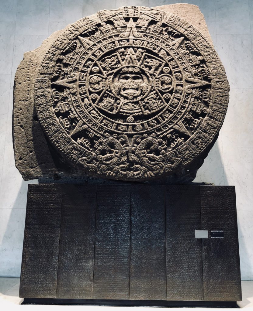 Ivan Zabalza, visit to the Museum of Anthropoloy in Mexico City
