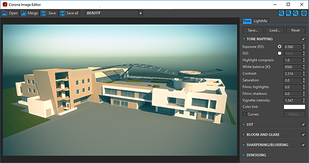Corona Renderer for ARCHICAD, the Corona Image Editor