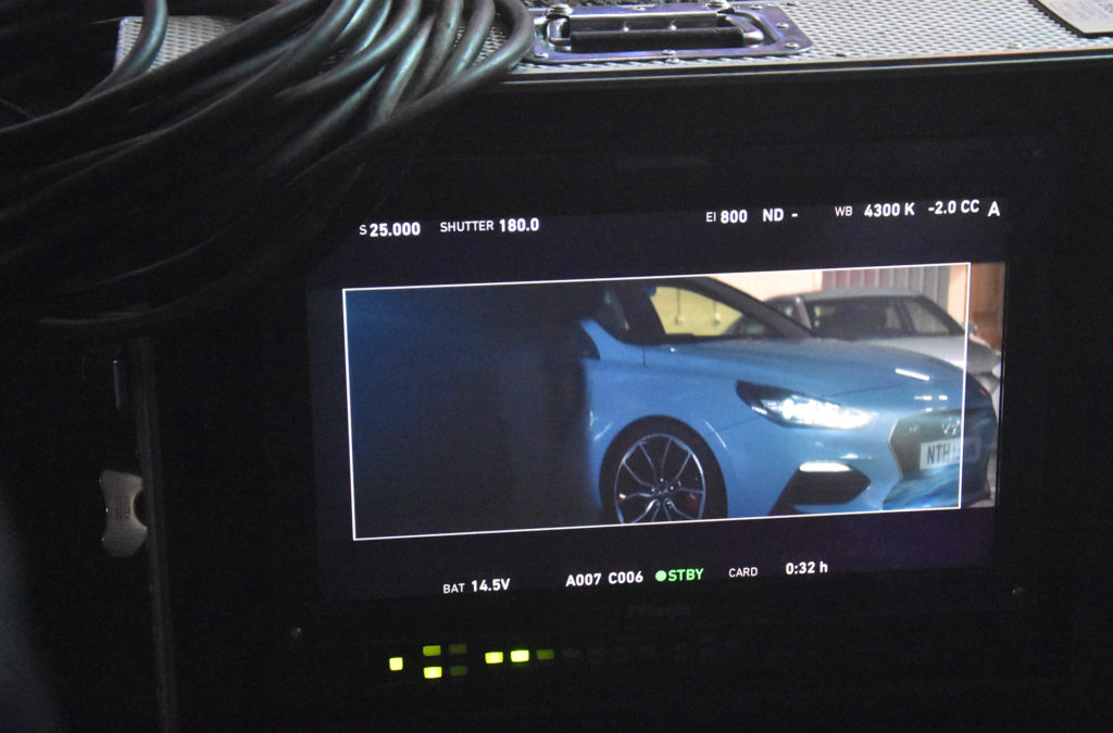 Corona Renderer wearelut Hyundai i30n on set shoot