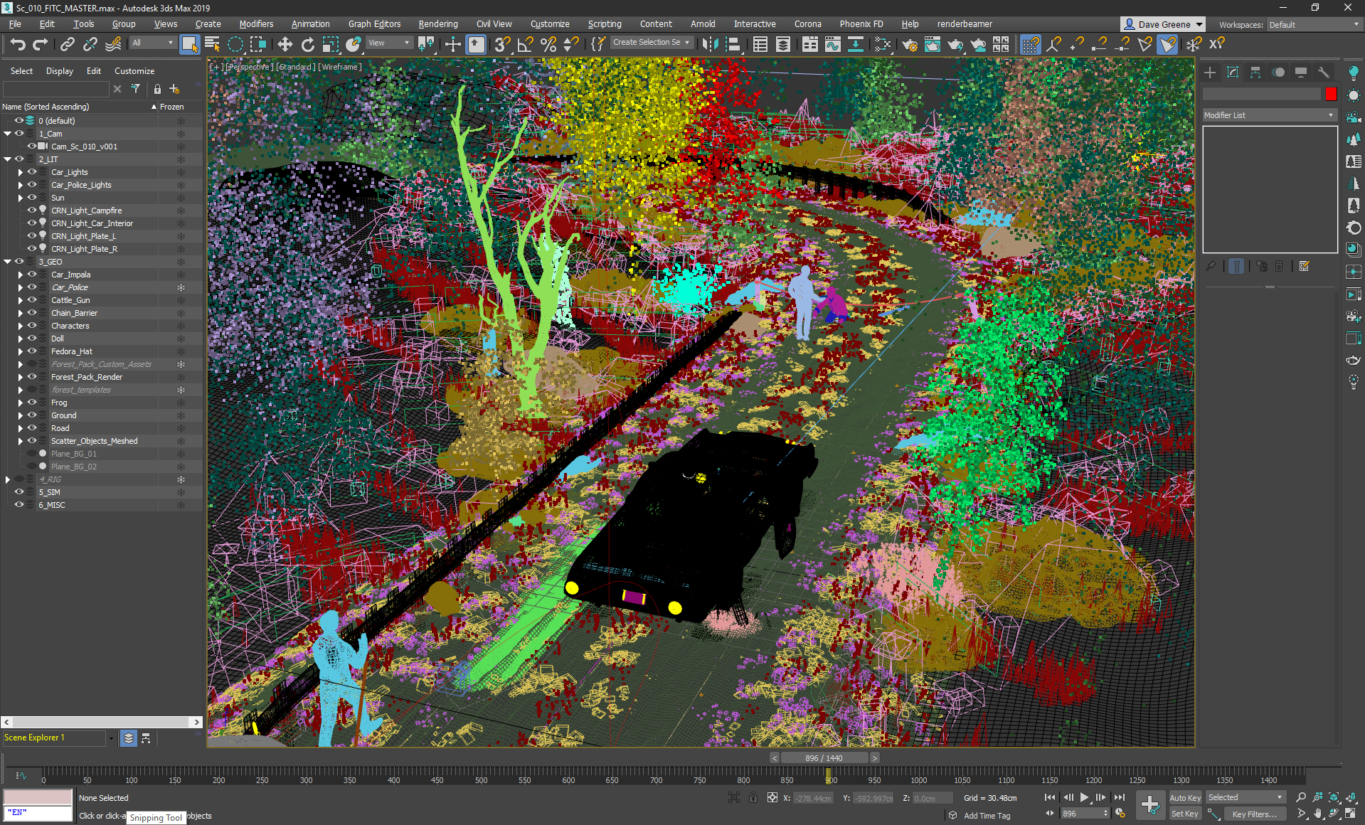 IAMSTATIC, FITC conference titles, scene layout