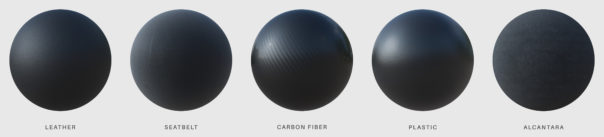 Matteo Rossi, automotive materials showcase, Corona Renderer for Cinema 4D
