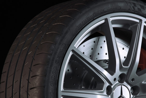 Matteo Rossi, Mercedes wheel with Michelin tyres, Corona Renderer for Cinema 4D