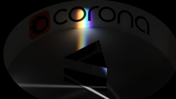 Caustics with dispersion from a prism - ccene provided by Rakete GmbH Munich