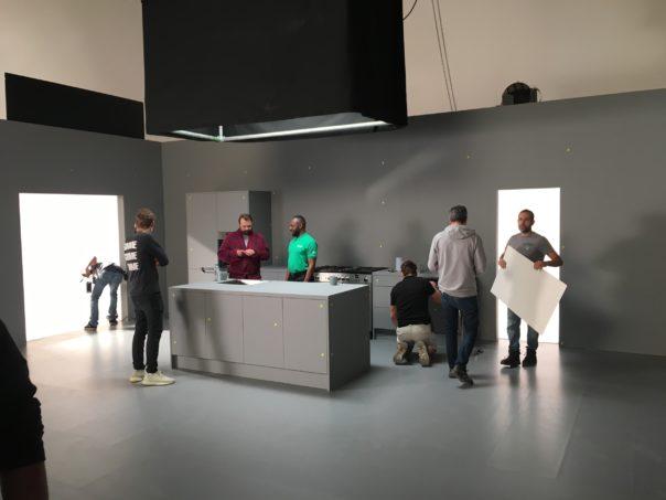 Pikcells, Wren Kitchens TV ads - 50% matte grey in the studio