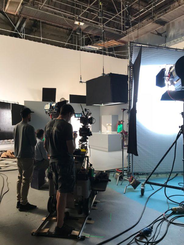 Pikcells, Wren Kitchens TV ads - filming in the studio.