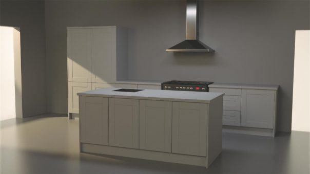 Pikcells, Wren Kitchens TV ads - the scene reconstructed in 3D