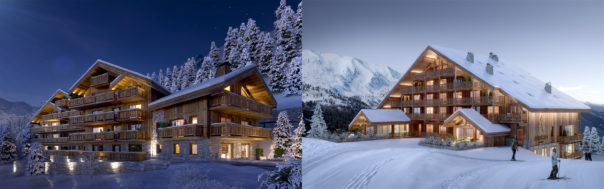 Valentinstudio Anthares, and Parc Alpin Exterior Nuit