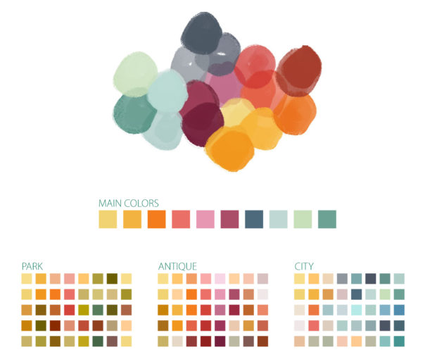 Guave Motion, Economy is Care, color palettes