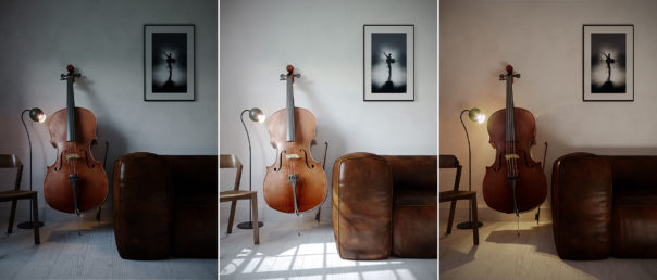 'Cello In The Corner' Florins first Corona Renders - Taming clouds with Florin Botea