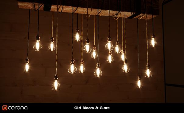 Corona Renderer for Cinema 4D - old bloom and glare, chandelier scene