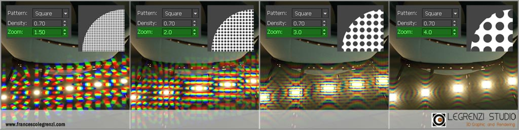 Zoom parameter of the new Custom aperture tool introduced with Corona Renderer v6.0 -Corona: THE COMPLETE GUIDE