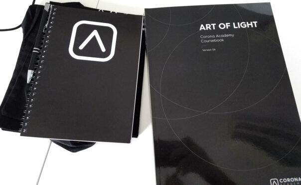 "The ""Art of Light"" book, and other swag, that we prepared for every Academy"