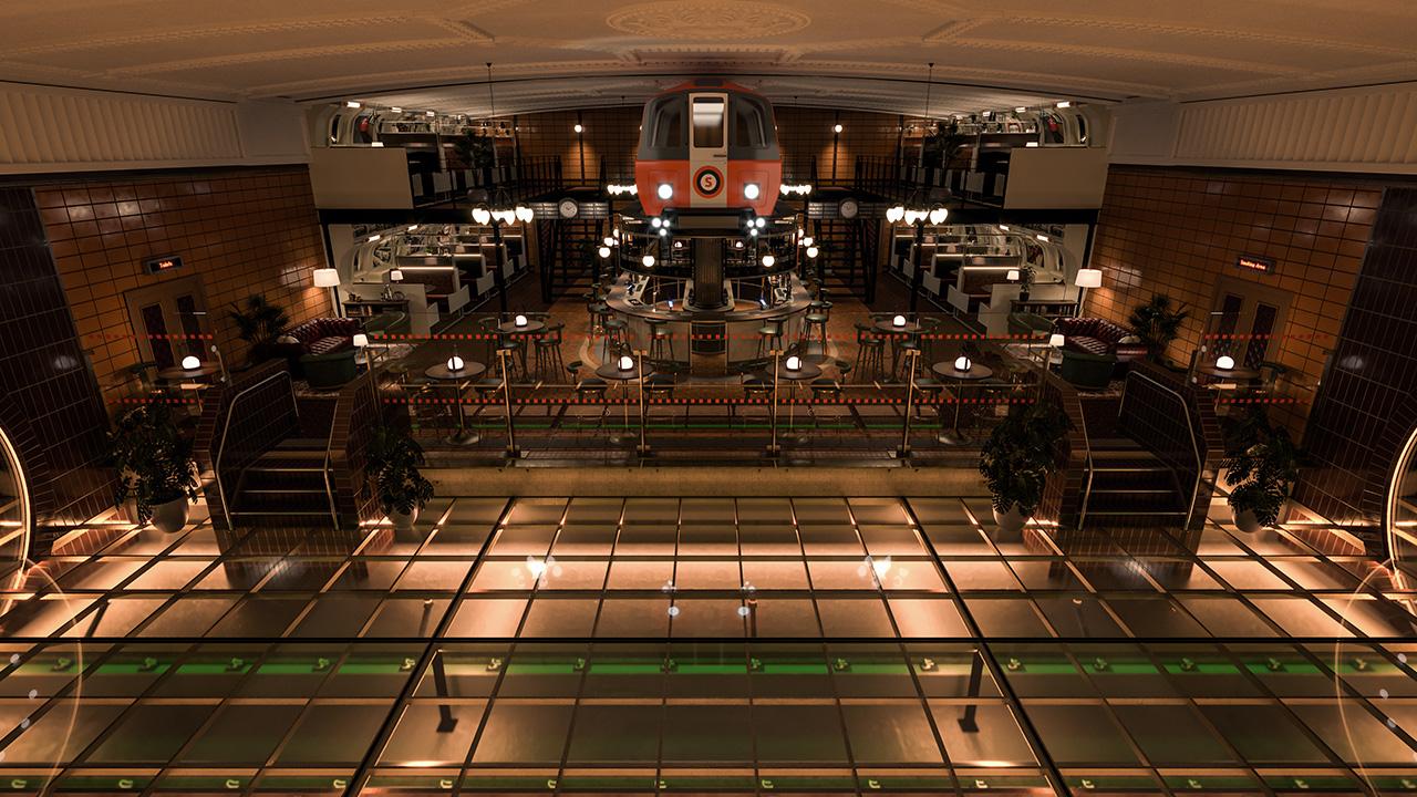 Wide view of the bar - Steven Bracki: The Inner Circle