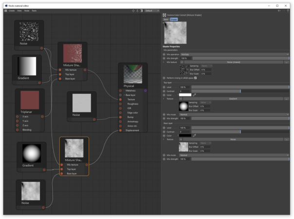 Corona Renderer 7 for Cinema 4D, the Mixture shader 03